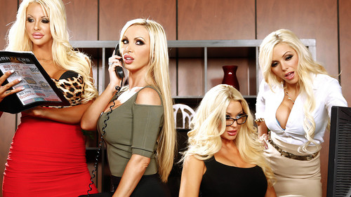 Watch Courtney Taylor and Nikki Benz with Nina Elle now!